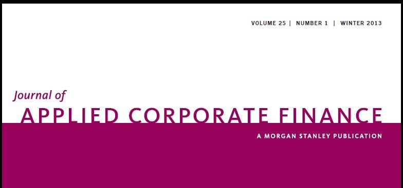 Journal Of Applied Corporate Finance